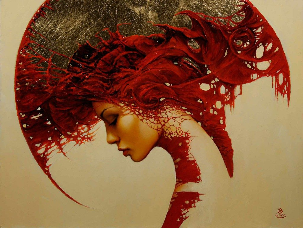 art-woman-shapes-patterns-fantasy-gothic-red-portrait-painting-surrealism-headdress-1024x770
